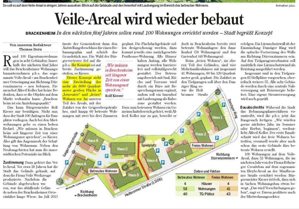 Artikel aus der Heilbronner Stimme v. 15.09.2016