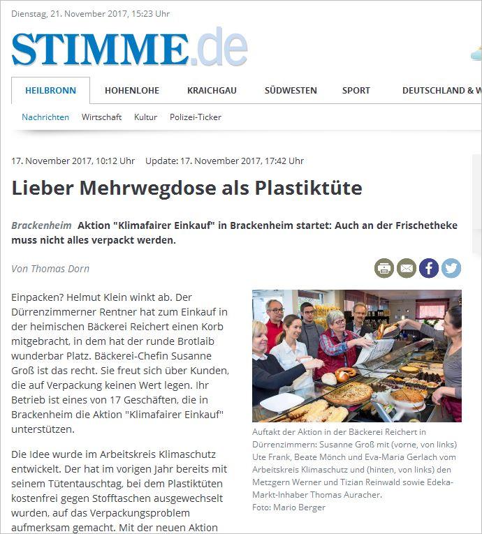 Klimafairer Einkauf in Brackenheim